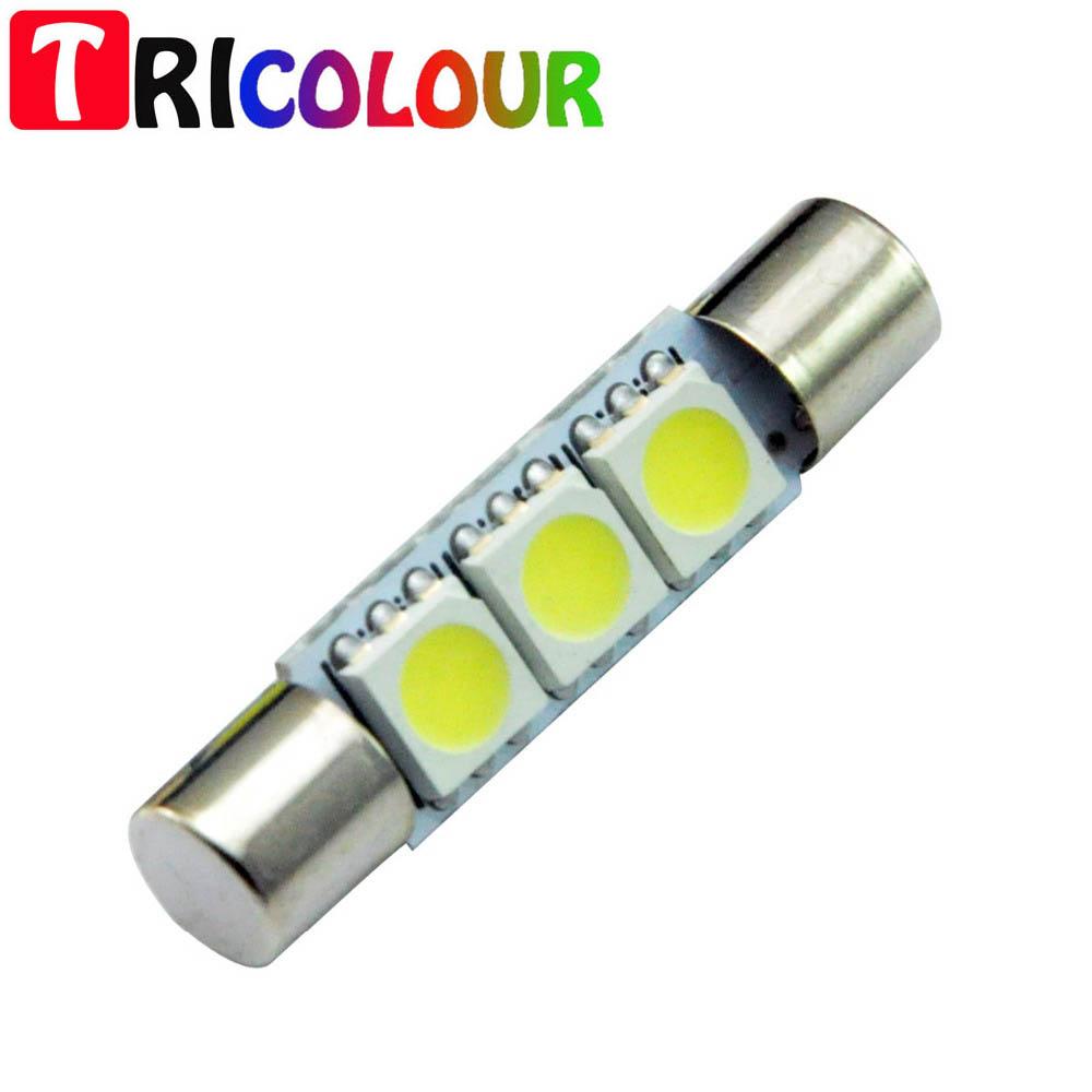 Tricolour 10pcs 28mm 3smd 5050 Interior Door Dome Reading Vanity Led Lamp Circuit Board50503smd China Car Mirror Light License Plate For Universal Truck Tk121 In Signal From