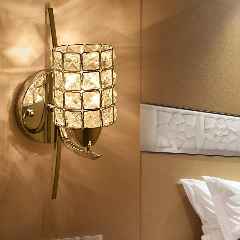 Modern Bedroom Crystal Wall light Chrome Base Living/Study/Dining ...