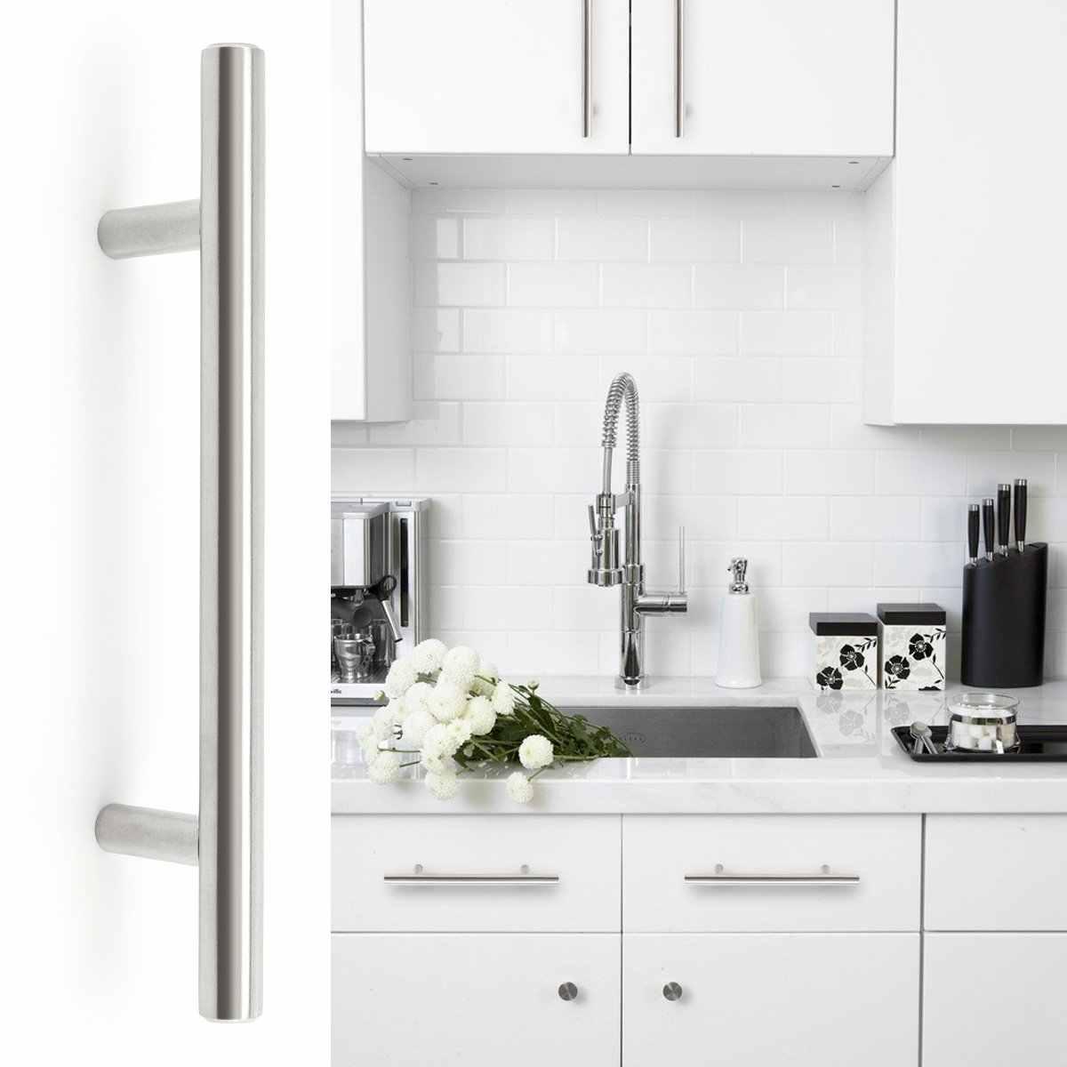Новые кухонные дверные ручки из нержавеющей стали с Т-образной планкой 96 мм