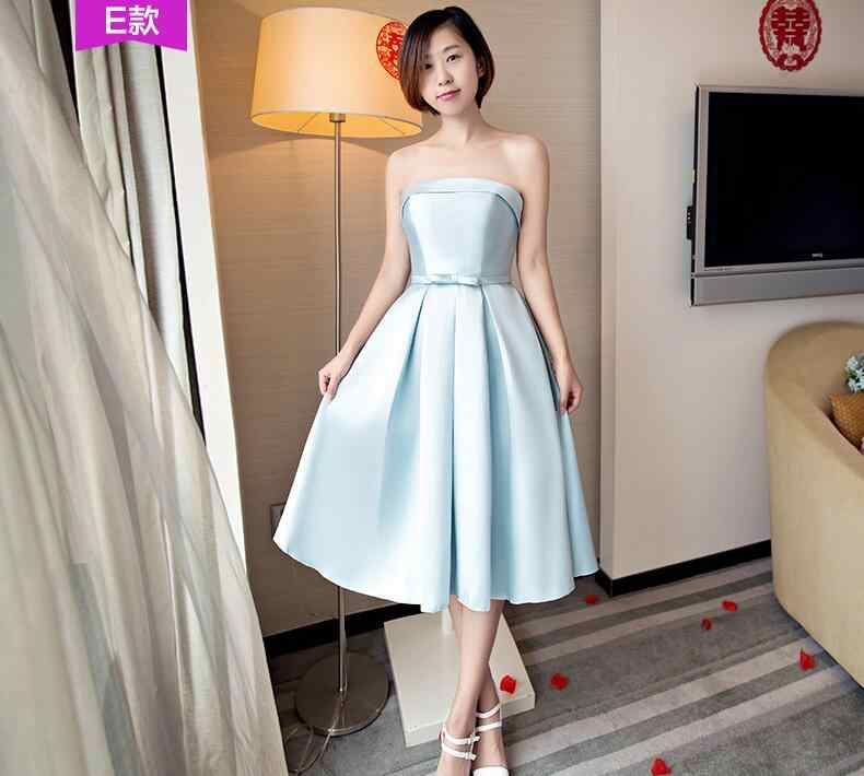 cf49a35275 Detail Feedback Questions about Light Sky Blue Short Bridesmaid ...