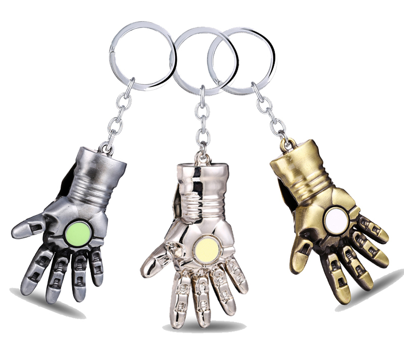 MS JEWELS Moive Gifts Jewelry The Avengers Iron Man Key Chain Metal 3 Colors Key Rings Chaveiro Keychains 3 Colors