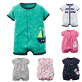 Toddler Baby Boy Rompers Summer Baby Girls Clothing Sets Roupas Infant Baby Jumpsuits Short Sleeve Newborn Baby Clothes
