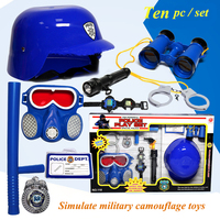 Policeman Role Pretend Play Set Fire Fighting Military Toy Dressing Fire Extinguisher Gas Mask Boys Simulation Police Suit