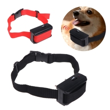 Automatical Anti Bark Dog Pet Collar Electric Shock Training Stop Barking Dogs Puppy Control adjustable warning цена