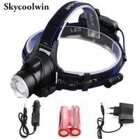 3500Lumen CREE LED IR Sensor Headlamp Rechargeable Camping Headlight With Li polymer Battery 4 White Light Modes 4pcs/lot
