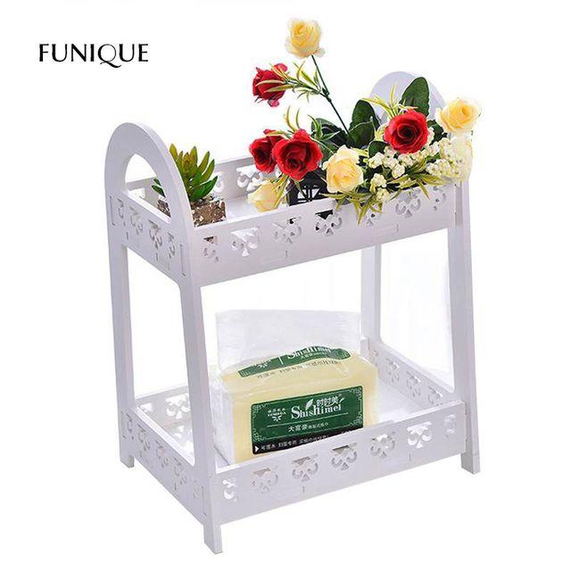 Attrayant FUNIQUE Elegant Desktop Storage Shelf Carving Double Layer Storage Holder  Small Book Shelf Flower Rack Makeup