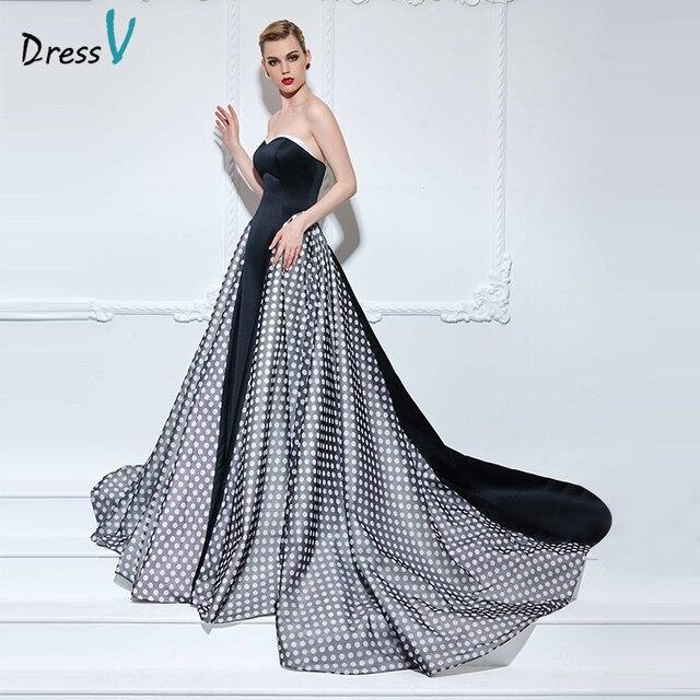 716f3ee1e Dressv sweetheart printed A-line long evening dress sleeveless court train zipper  up designer prom dress formal evening dress