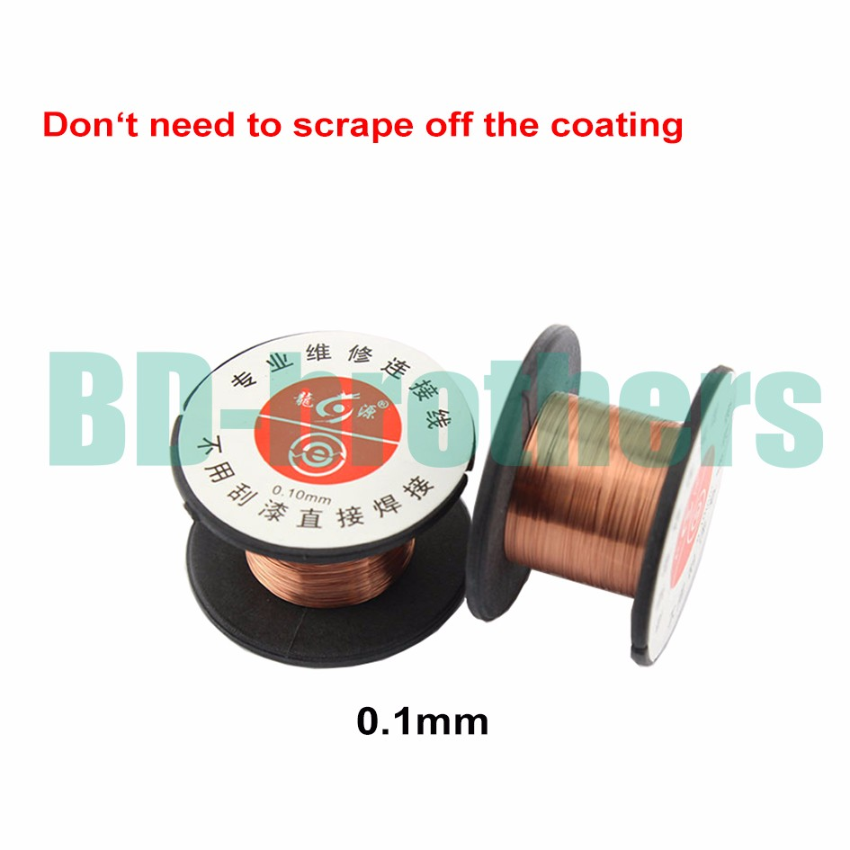 0 1mm Jump Wire Copper Wire Roll Soldering Solder PPA Enamelled Reel Fly line for iPhone