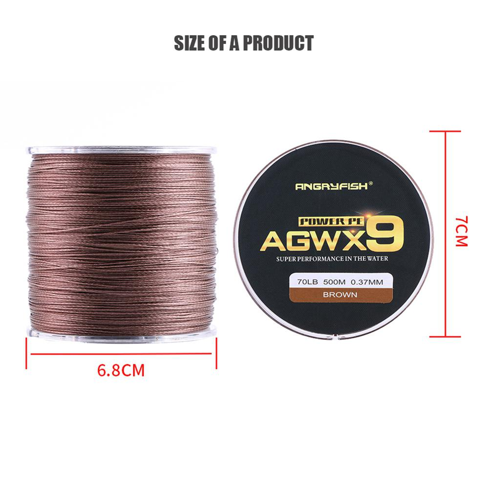 ANGRYFISH Fishing Line Diominate X9 PE Line 9 Strands Weaves Braided 500m 547yds Super Strong Fishing Line 15LB 100LB Blue in Fishing Lines from Sports Entertainment