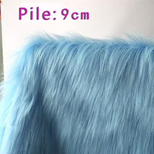 Blue Long Faux Fur Fabric