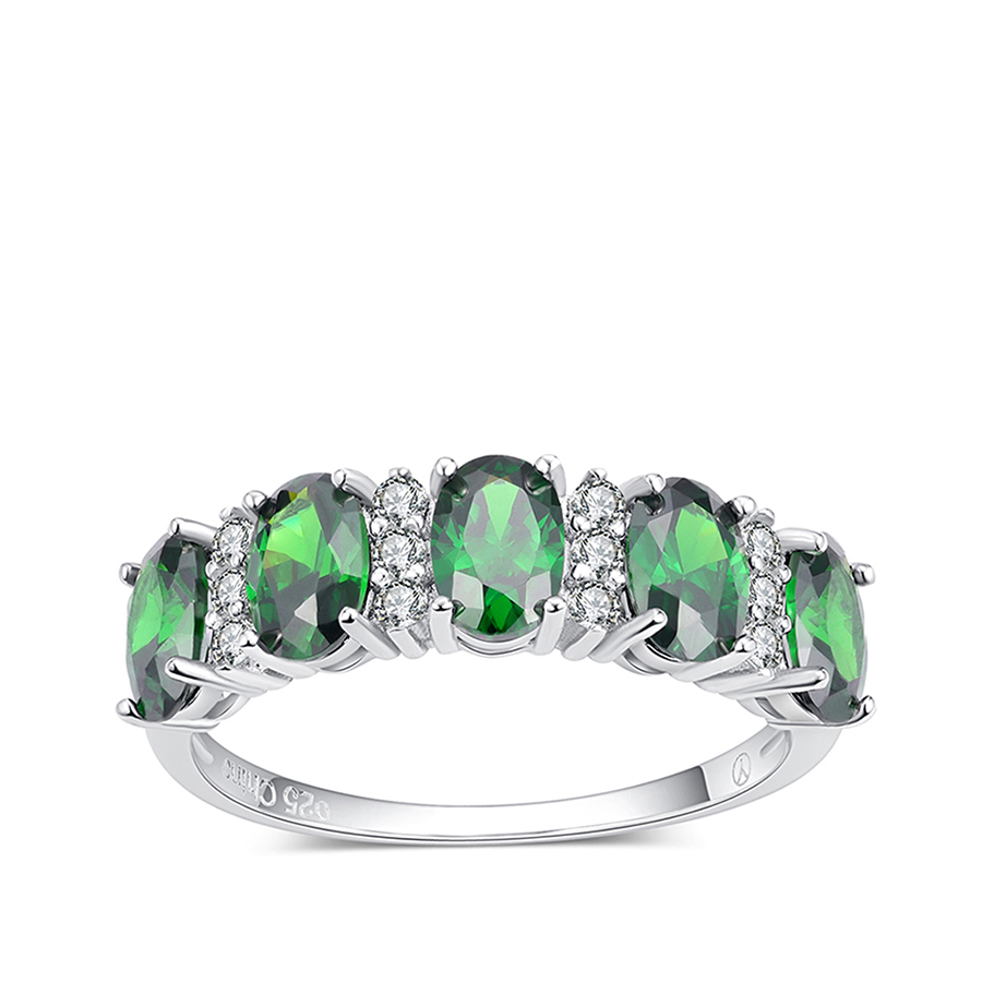 PJC Bella Luce 6 * 4mm 3.23cts Oval Shape Emerald Cubic Zirconia With - Вишукані прикраси