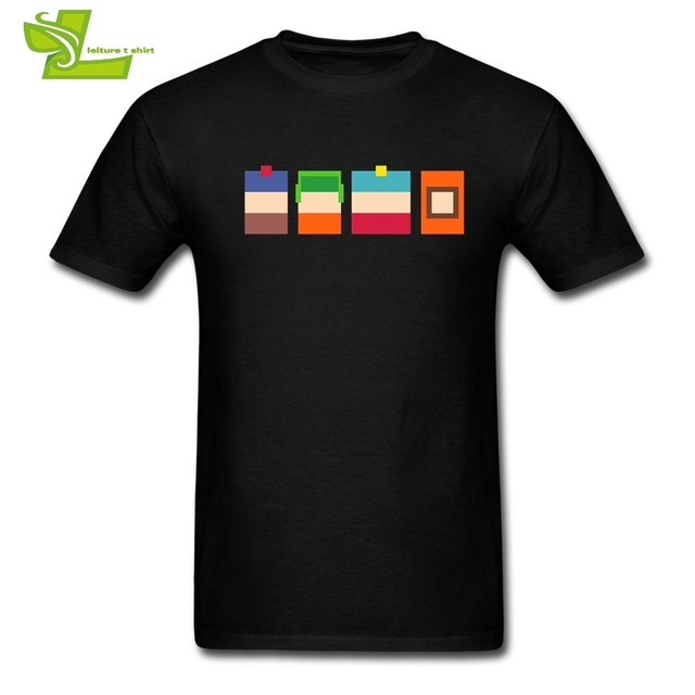 Streetwear T-Shirt Clothes South Park T Shirts for Men Adult Relaxed Fit Short Sleeve Teenage Funny Tee shirt Crew Collar