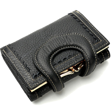 New Fashion Solid color Women Wallet Genuine Leather,High Qu