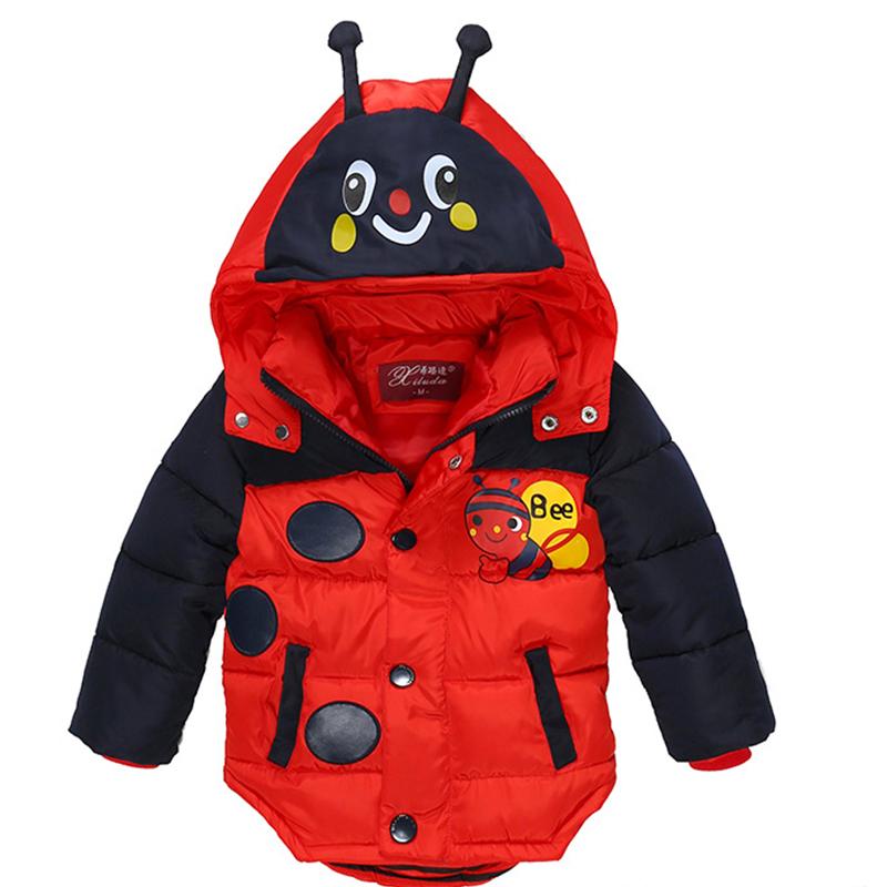 333e64996 Winter Boys Jackets Thick Baby Boys Coats Cartoon Bee Jacket For ...