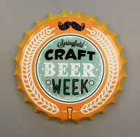 35cm CRAFT BEER WEEK Beer Bottle Cap Vintage Home Decor Tin Sign Bar Pub Wall Decor