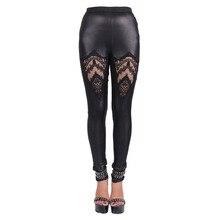2017 new Steampunk elastic British street punk gothic PUNK GOTHIC female skinny Leggings