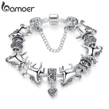 European Tibetan Silver Animal Charm Bracelet Women with Charmilia Glass Beads Fashion Jewellery PA1272(China)