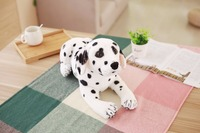 new simulaiton plush spot dog toy lying Dalmatian doll gift about 45cm