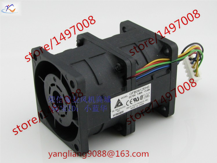 Delta GFB0412EHS 7J08 DC 12V 1.82A 8-wire 40x40x56mm Server Square Fan free shipping for delta afc0612db 9j10r dc 12v 0 45a 60x60x15mm 60mm 3 wire 3 pin connector server square fan