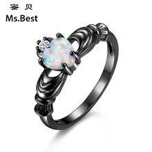 Ms. Best Famosa Marca Opal Corazón claddagh anillos para mujer TALLA 5 última joyería de la manera del diseñador de regalo para madres hijas