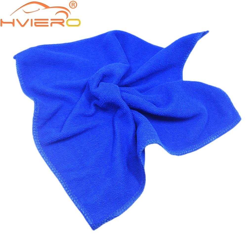 2X absorbente toalla espesar de gamuza de microfibra paños Auto de la motocicleta del coche de la limpieza cuidado de lavado de suministros de belleza herramientas de 30cm