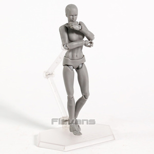 Image 3 - Body Figma Archetype Next He / She Flesh Gray Color Ver. Deluxe PVC Action Figure Collectible Model Toy