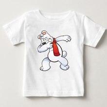 Детская футболка с рисунком Марио/маленького медведя Повседневная