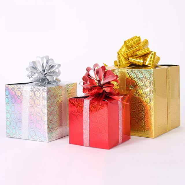 multi size diy christmas gift box paper crafts christmas decoration for home showcase xmas tree candy - Christmas Gift Box Decorations