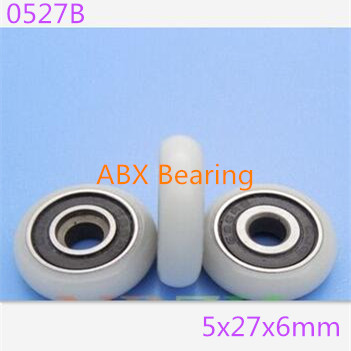 0527B BT0527 625-2RS 625 Nylon hanging pulley wheel bearing for shower door and window 5*27*6MM with M5 hole