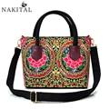 2017 New Embroidery Bags Women Vintage Fashion Cover Pompon Large Messenger Bag Ethnic Handbags