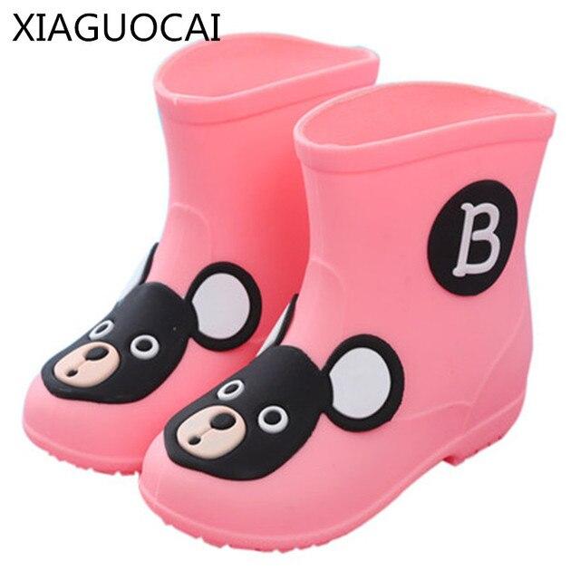 a97bd6dc400b9 XiaGuoCai Ragazza ragazzo bambino Unisex Bambini stivali da pioggia bambini  scarpe soprascarpe stivali moda k179 impermeabile