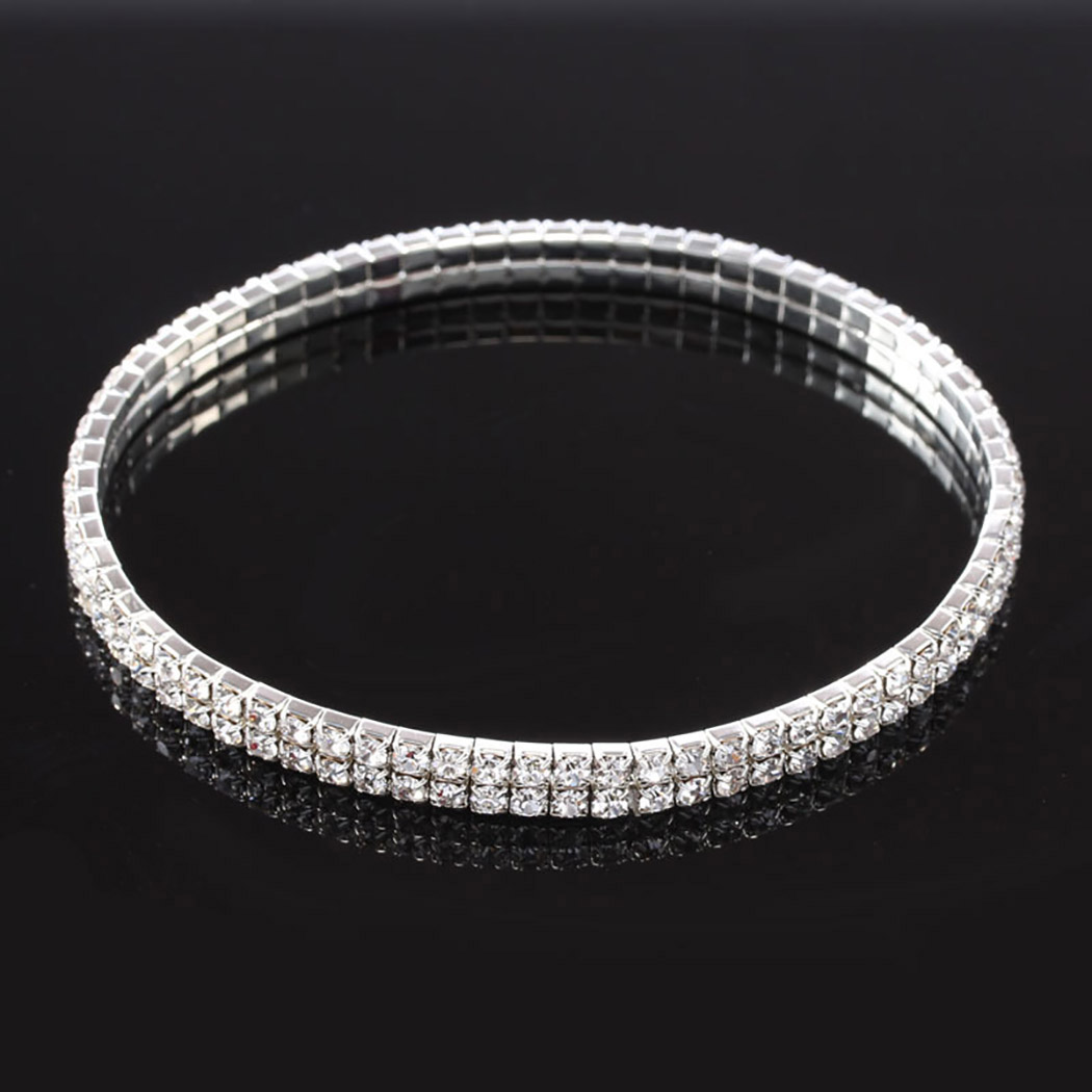 Shiny Crystal Rhinestone Elastic Anklets for Women Ankle Bracelet on the Leg Bracelet Layered Anklet Foot Jewelry enkelbandje 3