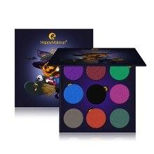 EyeShadow Set 9 Colors Eye Makeup Matte Glitter Eye Shadow Palette Masquerade Halloween Makeup Cosmetic Nude Shadow With Mirror