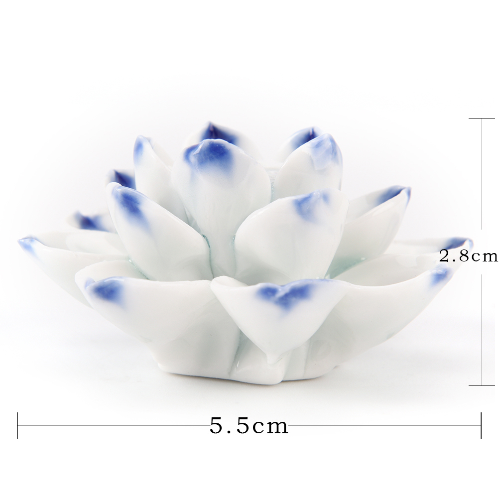 Lotus flower shape adeeing ceramic incense burner stick holder lotus lotus flower shape adeeing ceramic incense burner stick holder lotus incense burner ash catcher plate with 13 holes 55 28cm in incense incense izmirmasajfo