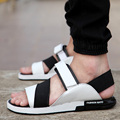 2015 new Summer Style Men Sandals PU Leather Beach Sandals slippers Brand Outdoor Casual shoes Men Beach Sandals frees shipping