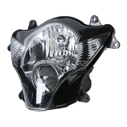 Motorcycle Front HeadLight Head Light Lamp Assembly For Suzuki GSXR600 GSXR750 2006 2007 new motorcycle ram air intake tube duct for suzuki gsxr600 gsxr750 2006 2007 k6 abs plastic black