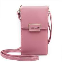 متعددة الوظائف حقيبة كتف صغيرة للنساء مع بطاقة هاتف محمول جيب بولي Leather جلد السيدات Crossbody محفظة الإناث حقيبة ساع