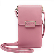 Multi-Function Small Shoulder Bag For Women With Card Cell Phone Pocket Pu Leath