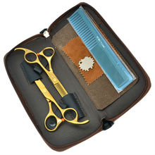 5 5Inch MeiSha Professional Hair Shears Sets JP440C Barbers Golden Cutting Scissors Thinning Scissors Hair Salon