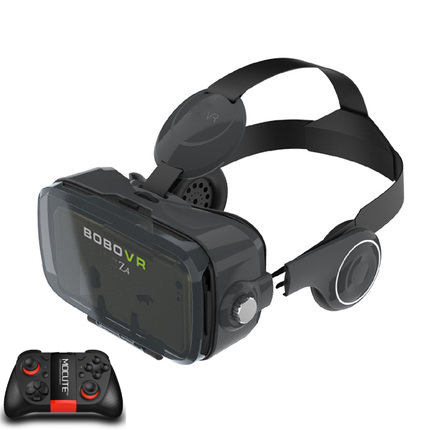XiaoZhai bobovr z4 VR Виртуальная реальность 3D очки VR гарнитура VR шлем cardboad bobo коробка и Bluetooth контроллер - Цвет: blackMOCUTE