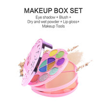 Makeup Palette Set Box Professional Beauty kit 21 Colors Glitter Eyeshadow Matte Lipstick Oil Control Powder Blusher Cosmetic(China)