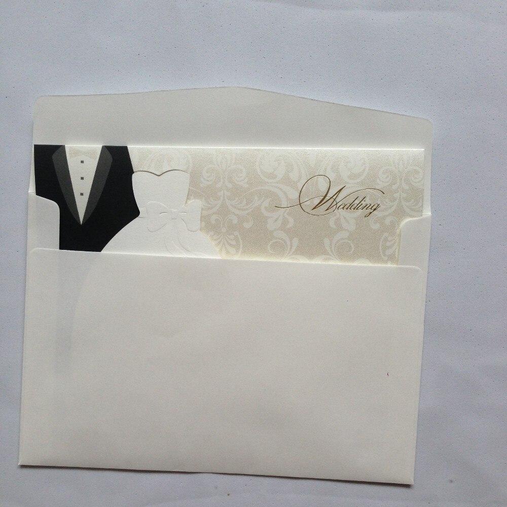 Wholesale 1000pcs/lot Wedding Invitation Bride And Groom Dress Blank ...