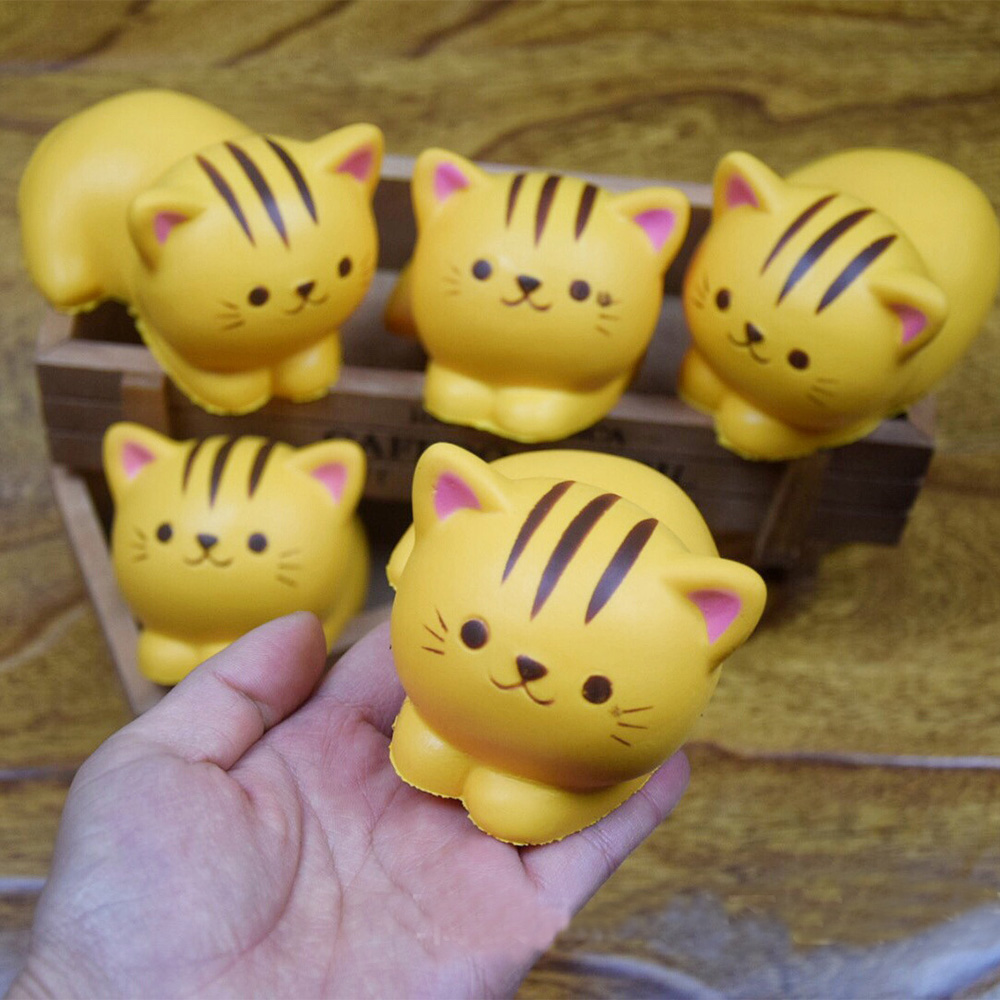 Squishies Decompression Toys Cat Squeeze Slow Rising Soft  Squishy Stress Relief Toys Phone Straps Gift Craft Decors 0.01