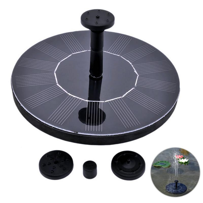 Solar Power Fountain Solar Panel Water Floating Fountain Pump Kit for Bird Bath Fish Tank Small Pond Garden Decoration