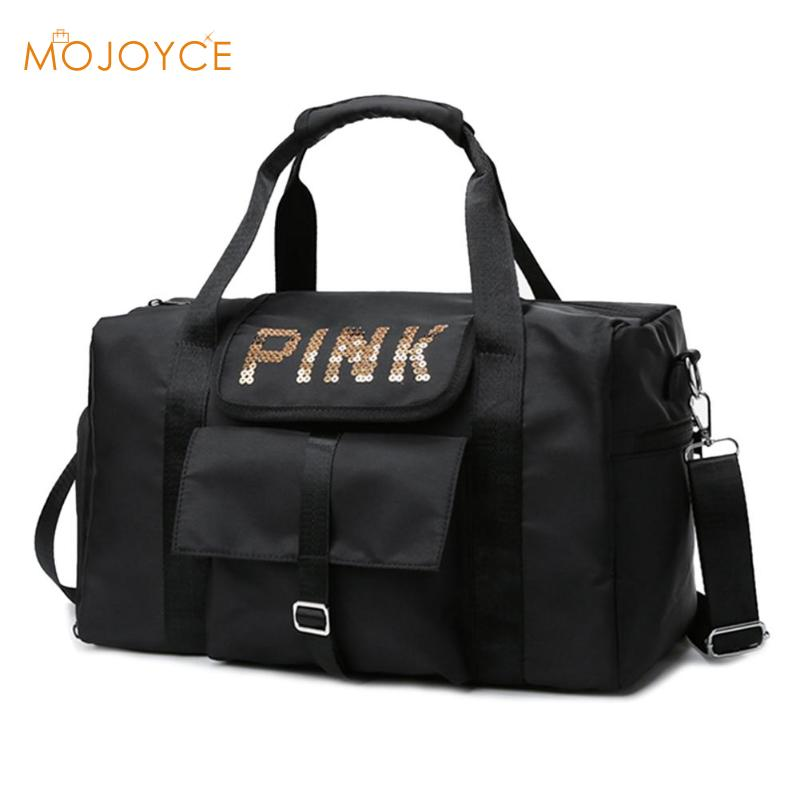 Waterproof Women Gym Bag Women Fitness Yoga Sports Bag For Shoe Storage Travel Handbags Unisex Luggage Sequin Duffel Bag