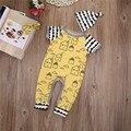 Новая Мода Baby Boy Одежда Набор Весна Осень Комплект Одежды Для новорожденного Девочка С Коротким Рукавом боди + шляпа