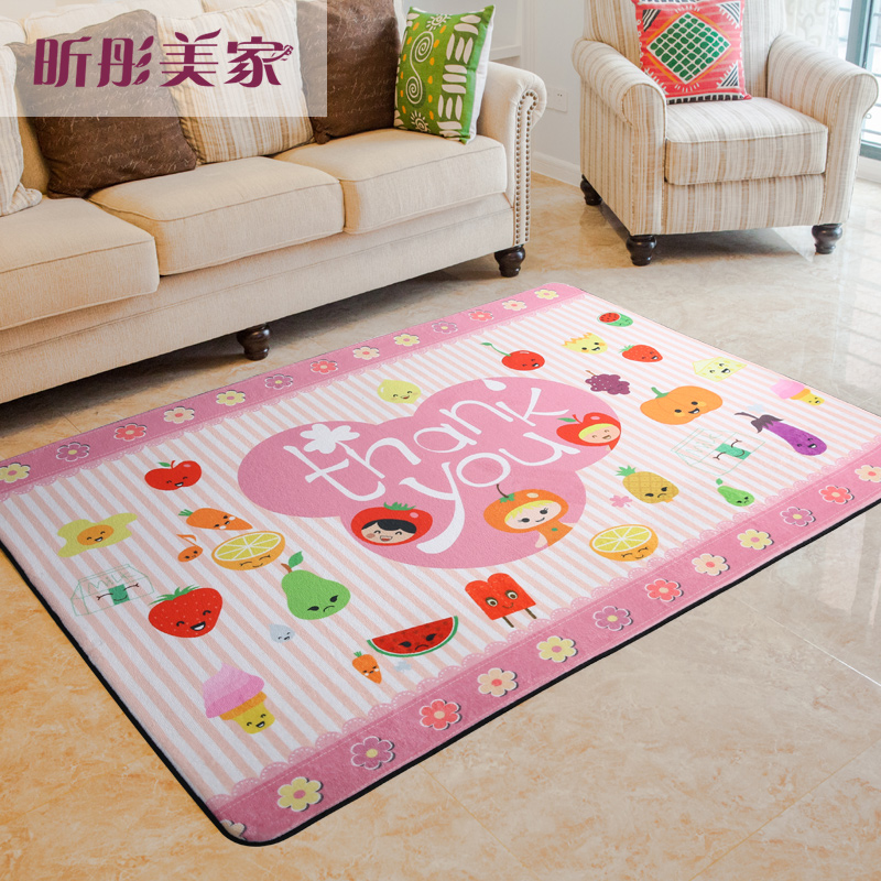 WINLIFE new Cartoon Carpets For Living Room Children Bedroom Rugs And Carpets Computer Chair Area Rug Kids Soft Play Mat