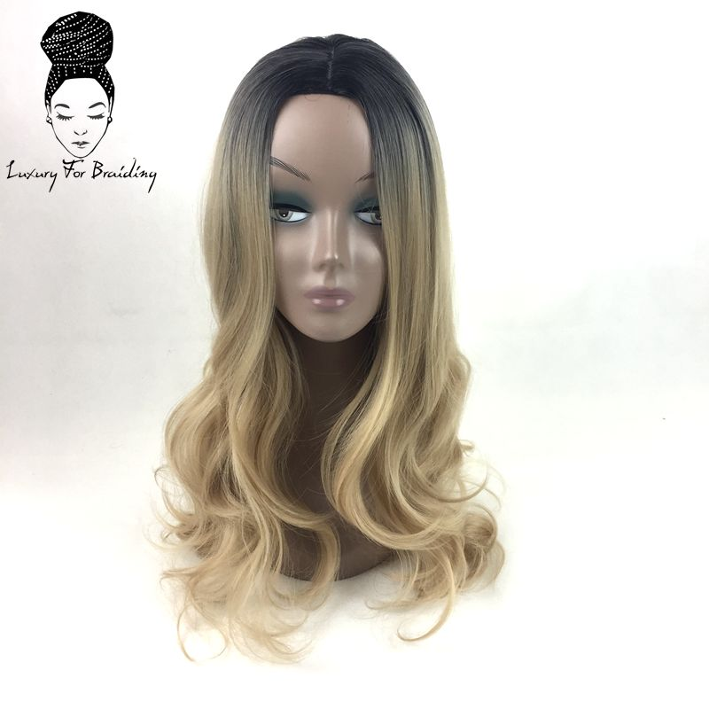long curly ombre blonde synthetic wigs03