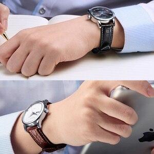 Image 5 - HOWK רצועת השעון 18mm 19mm 20mm 21mm 22mm 23mm 24mm עור אמיתי צפו בנד תנין עגול שעון תבנית
