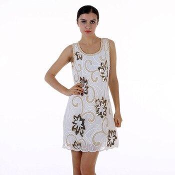8d90e5d1dd BLINGSTORY Europa bordado Flor de gasa de mujer elegante vestido de Club  vestidos para primavera KR3075-4